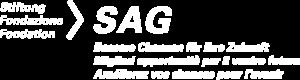 Logo SAG 3-sprachig weiss