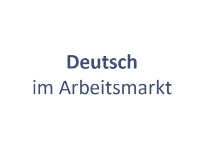 Deutsch im Arbeitsmarkt